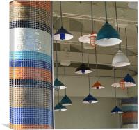 Tiles and Lights, Canvas Print