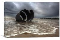 Incoming tide at Marys Shell, Canvas Print
