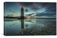 Point of Ayr Reflection, Canvas Print