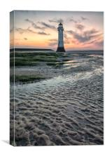 Perch Rock subtle sunset, Canvas Print
