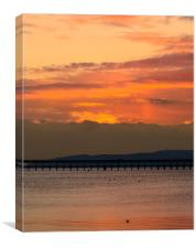 Sunset over Arran from Fairlie, Canvas Print