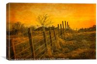 Winter Sunset , Douglas Park in  Largs, Canvas Print