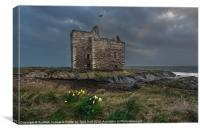 Storm Clouds over  Portencross Castle, Canvas Print