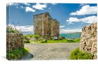 Springtime at Portencross Castle , Ayrshire, Canvas Print