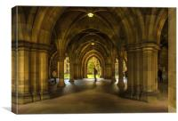 The Cloisters at Glasgow University, Canvas Print