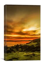 Scottish Sunset at Largs, Canvas Print