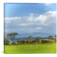 Arran from Portencross, Canvas Print