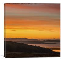 Scottish Winter Sunset, Canvas Print