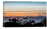 Looking Across to Ailsa Craig , Canvas Print