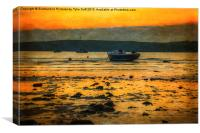 Waiting For Tide To , Canvas Print