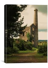 Ale and Cakes Shaft, United Downs, Canvas Print