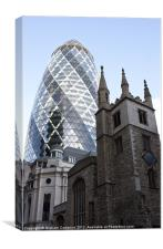 The Gherkin, London, Canvas Print