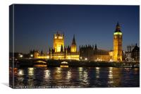 Westminster at Night, Canvas Print