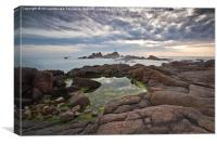 Corbiere Lighthouse Jersey, Canvas Print