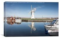 Thurne Mill, Norfolk, Canvas Print