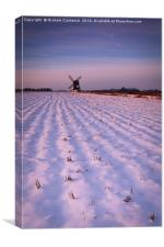 Pitstone Windmill in Winter, Canvas Print