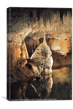 French water Cave Stalagmite, Canvas Print