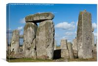 Stonehenge closeup, Canvas Print