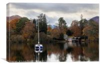 Derwentwater boathouse, Canvas Print