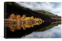 Bassenthwaite and autumn trees, Canvas Print
