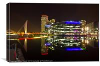 Salford Quays at night, Canvas Print