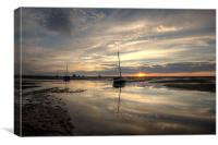Reflecting at Meols, Canvas Print