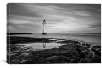 New Brighton mono, Canvas Print