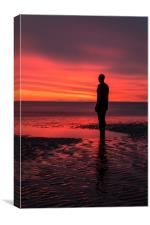 Under a blood red sky, Canvas Print