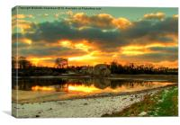 Sunset Over Tidal Mill, Canvas Print