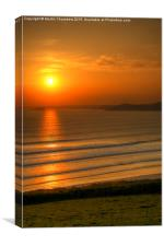 Sunset from Newgale, Pembrokeshire, Canvas Print