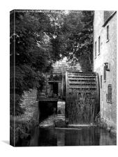 Water Wheel at Lower Slaughter, Canvas Print