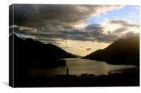 Sunset at Glenfinnan Monument, Canvas Print