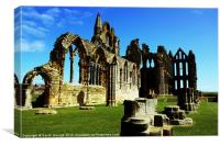 The Ruins of Whitby Abbey, Canvas Print
