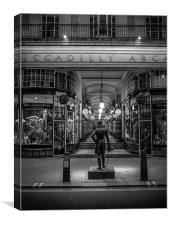 Piccadilly Arcade at night, Canvas Print
