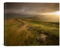 Mam Tor Sunrise, Canvas Print