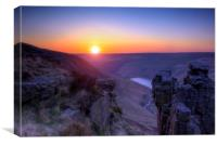 Saddleworth Moor Peak District #1, Canvas Print