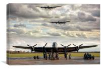 Three Lancs, Canvas Print