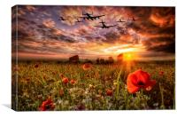 Lest We Forget RAF, Canvas Print