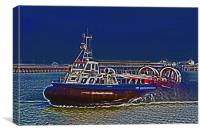 Isle Of Wight Hovercraft, Canvas Print