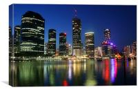 Night Time in Brisbane, Canvas Print