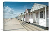 Southwold Beach Huts in Summer, Canvas Print