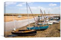 Wells Next The Sea, Boats in the Harbour, Canvas Print