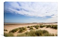 Wells Next The Sea , Beach and Sand Dunes , Canvas Print