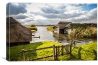 Hickling Boathouses, Canvas Print