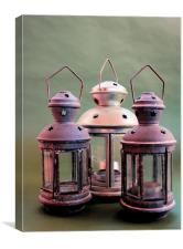Lantern - Candle holder , Canvas Print