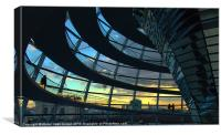 Sunset at The Reichstag, Canvas Print