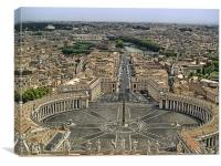 Aerial view of the Vatican, Canvas Print