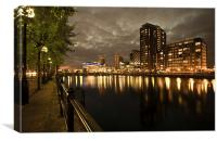 THE QUAYS AT NIGHT, Canvas Print