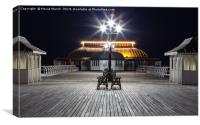 The Pier at Night, Canvas Print