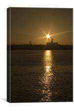 Liverpool Waterfront Sunrise, Canvas Print